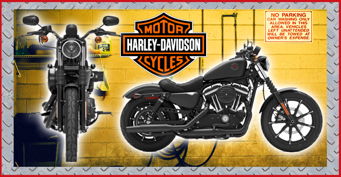 Harley Iron 883 motorcycle
